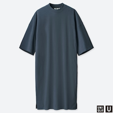 WOMEN UNIQLO U OVERSIZED HALF SLEEVED T-SHIRT DRESS
