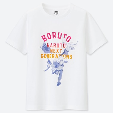 KIDS MANGA UT BORUTO (SHORT-SLEEVE GRAPHIC T-SHIRT), WHITE, medium