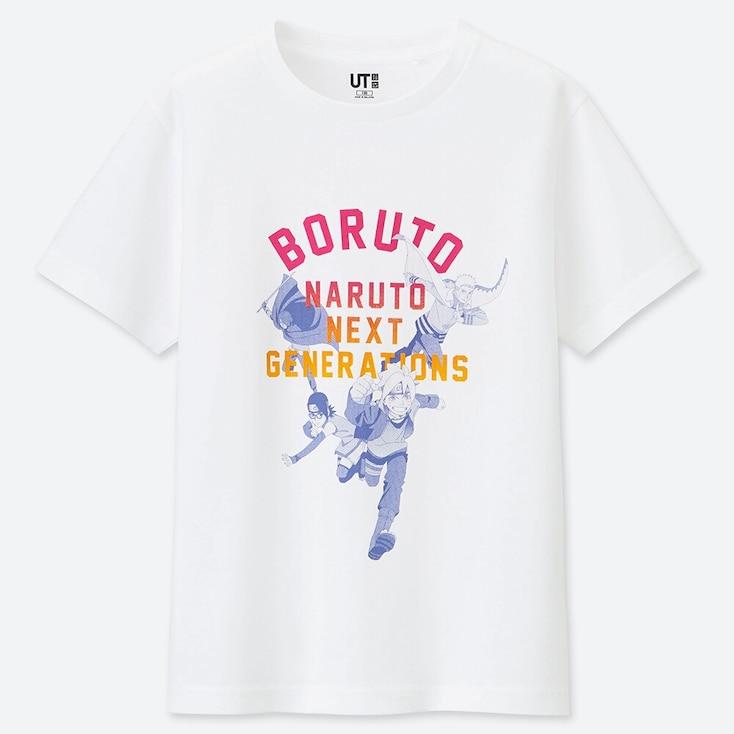 Kids Manga Ut Boruto (short-sleeve Graphic T-shirt), White, Large