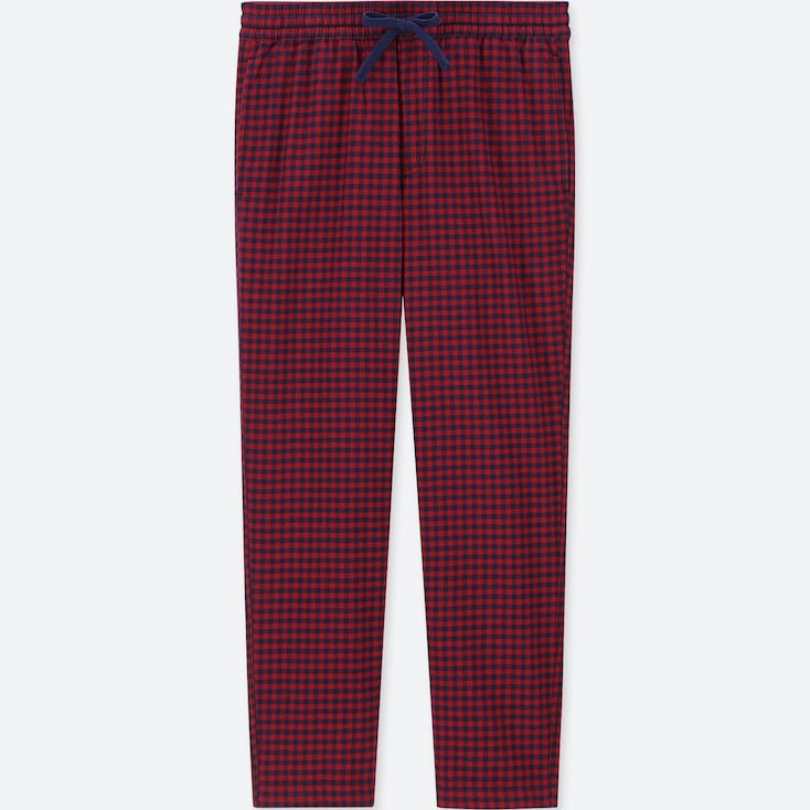 MEN FLANNEL EASY PANTS, RED, large