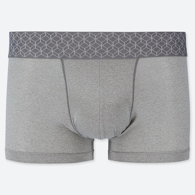 MEN AIRism MESH LOW-RISE BOXER BRIEFS, GRAY, medium