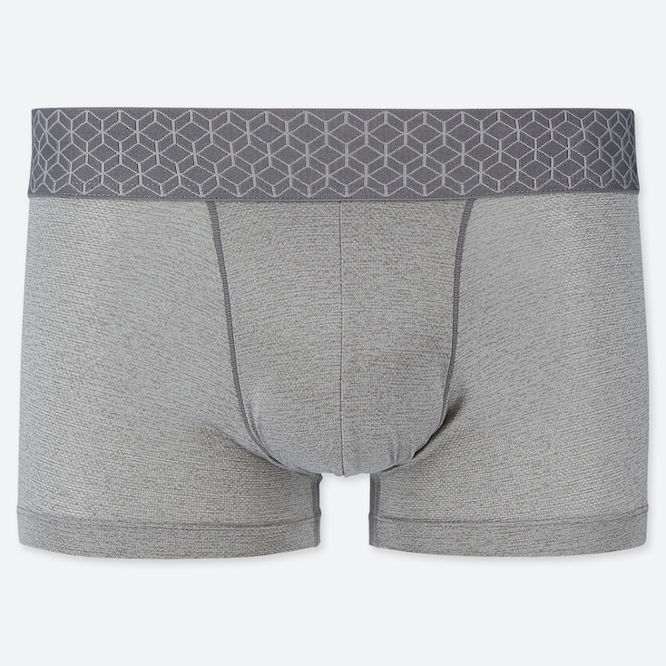 MEN AIRism MESH LOW-RISE BOXER BRIEFS, GRAY, large