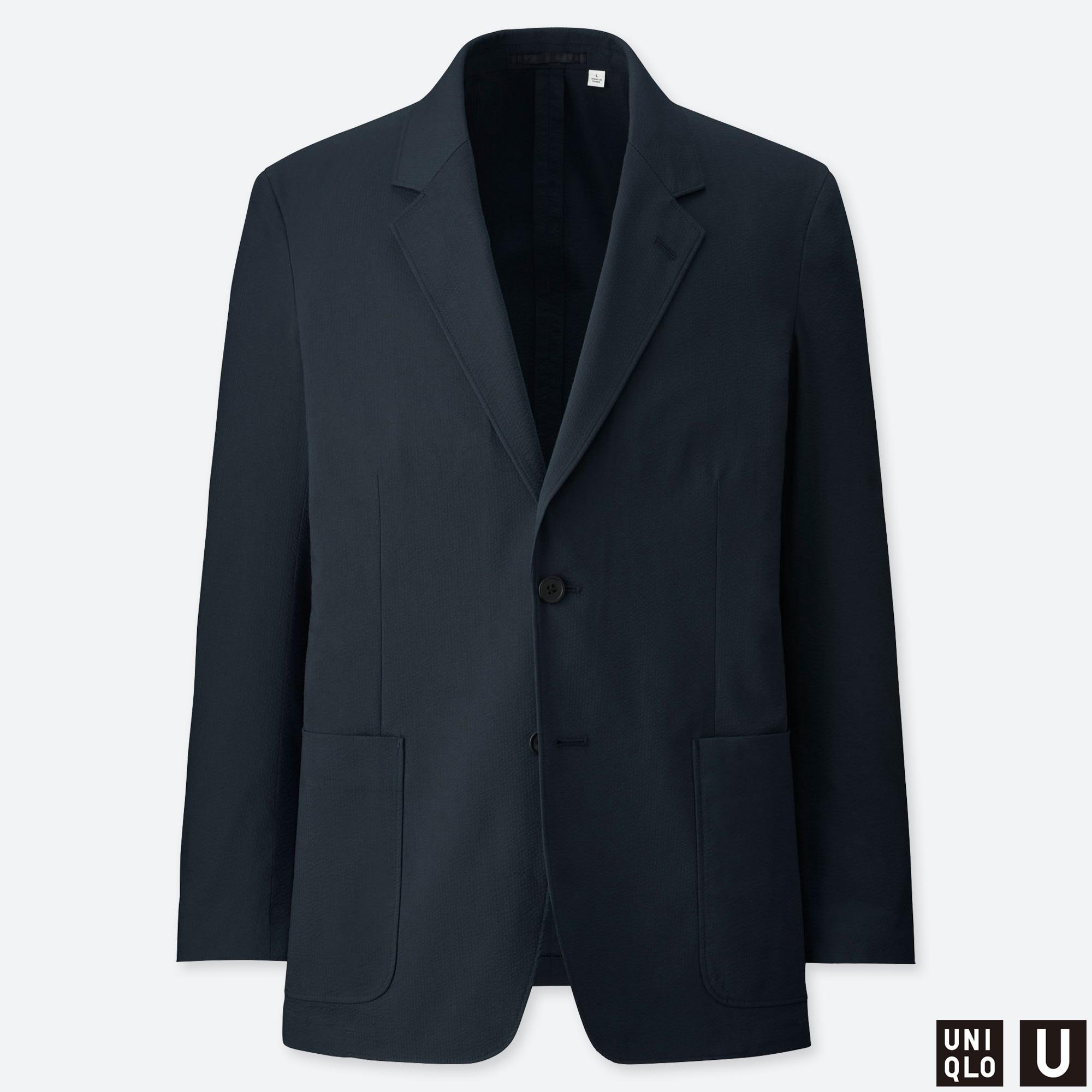 Men U Seersucker Jacket Uniqlo Us