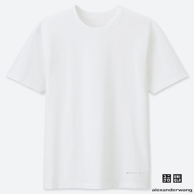 MEN AIRism SHORT-SLEEVE CREW NECK T-SHIRT (ALEXANDER WANG), WHITE, medium