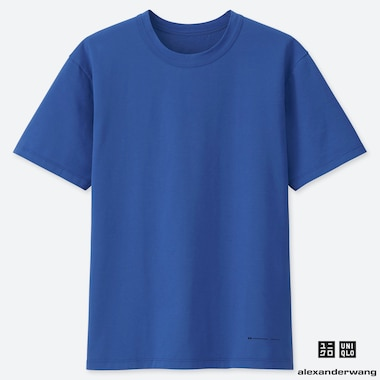 MEN AIRism SHORT-SLEEVE CREW NECK T-SHIRT (ALEXANDER WANG), BLUE, medium