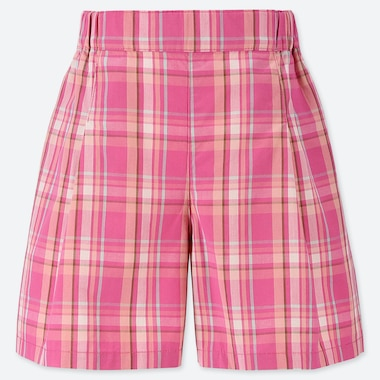 GIRLS EASY CHECKED FLARED SHORTS