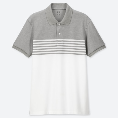 MEN DRY-EX PIQUE STRIPED SHORT SLEEVED POLO SHIRT