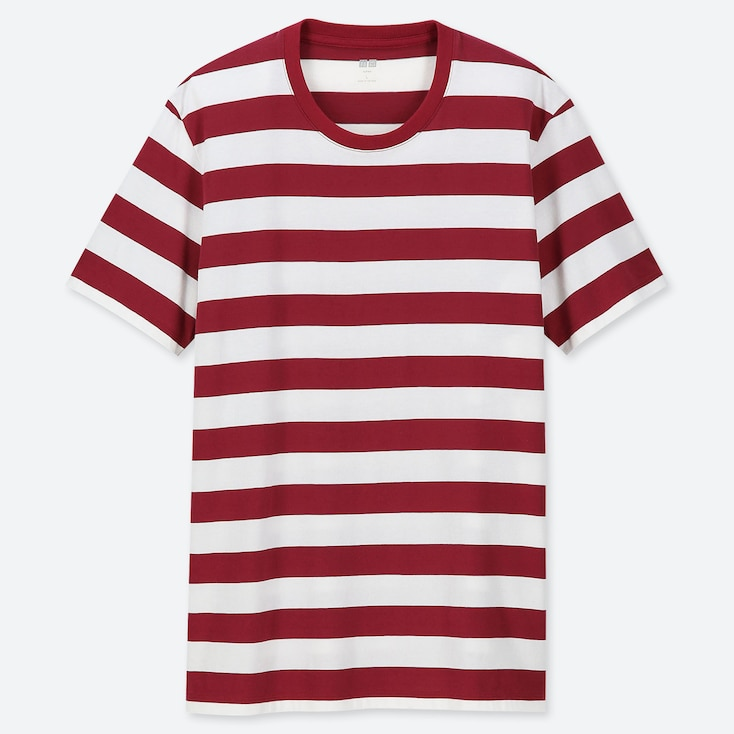 MEN SUPIMA® COTTON STRIPED SHORT-SLEEVE T-SHIRT, RED, large