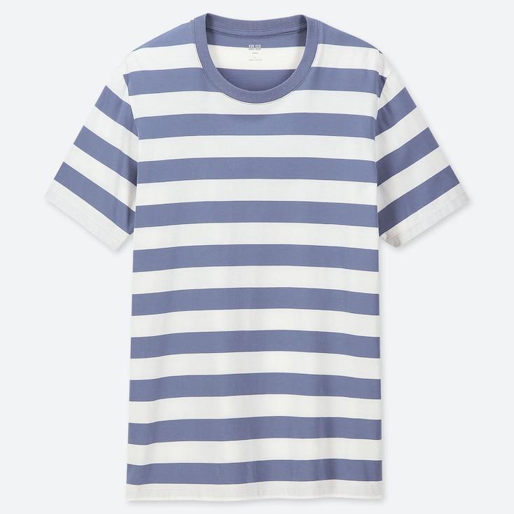 MEN SUPIMA® COTTON STRIPED SHORT-SLEEVE T-SHIRT, BLUE, large