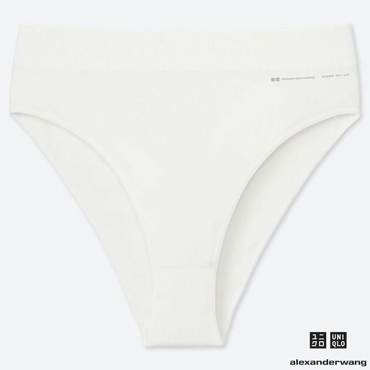 WOMEN AIRism SEAMLESS BIKINI SHORTS (ALEXANDER WANG), OFF WHITE, large