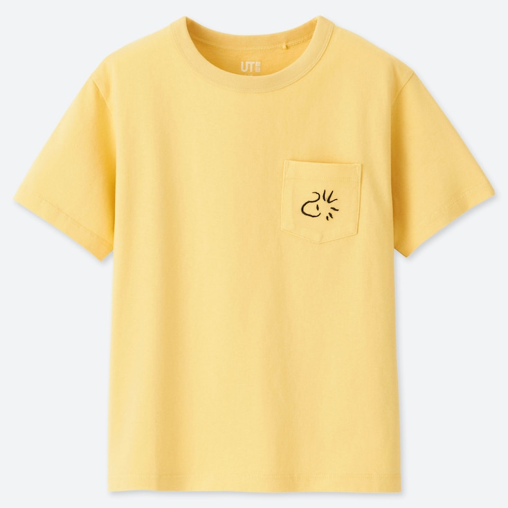 KIDS PEANUTS UT (SHORT-SLEEVE GRAPHIC T-SHIRT), YELLOW, large