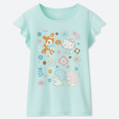 GIRLS SANRIO CHARACTERS UT (SHORT-SLEEVE GRAPHIC T-SHIRT), LIGHT GREEN, medium