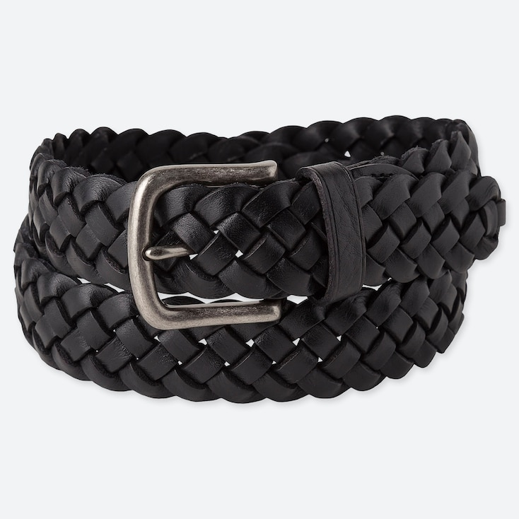 MEN ITALIAN LEATHER WOVEN BELT