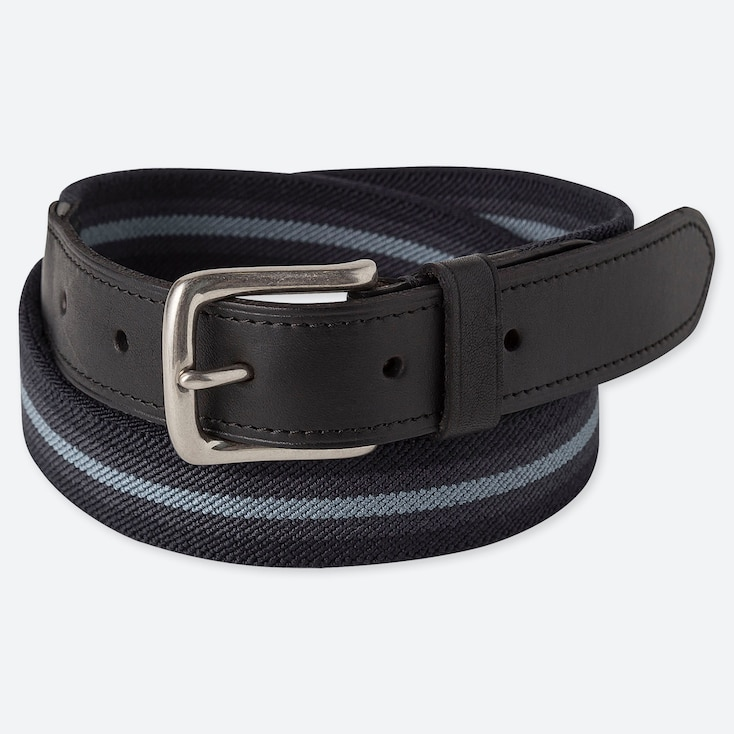 MEN STRETCH TAPE BELT, NAVY, large