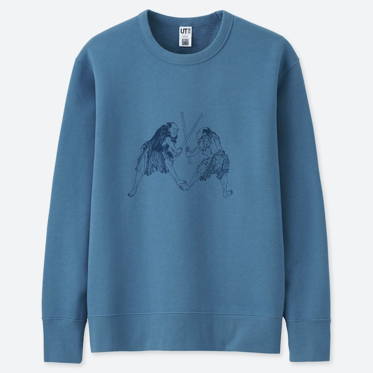 HOKUSAI BLUE GRAPHIC SWEATSHIRT, BLUE, large