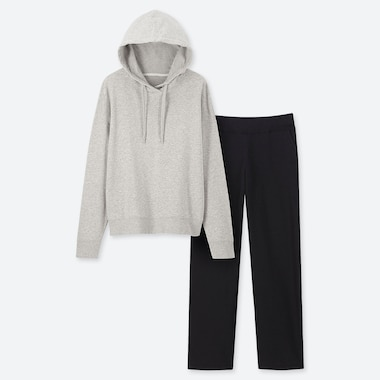 WOMEN ULTRA STRETCH HOODIE & TROUSERS LOUNGE SET