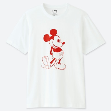 MICKEY STANDS UT (SHORT SLEEVE GRAPHIC T-SHIRT), WHITE, medium