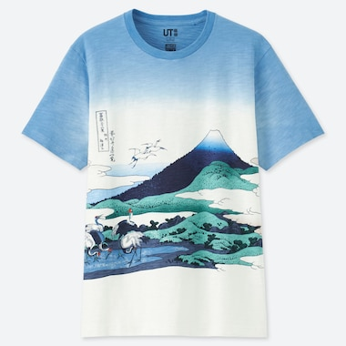 MEN HOKUSAI BLUE UT GRAPHIC T-SHIRT