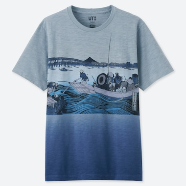 HOKUSAI BLUE UT (SHORT-SLEEVE GRAPHIC T-SHIRT), BLUE, medium