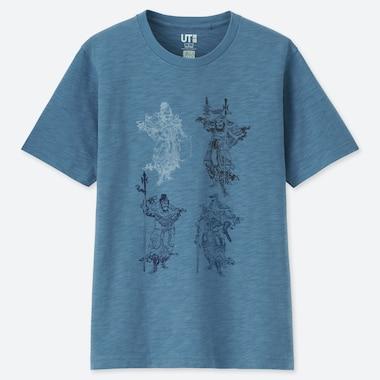 T-SHIRT UT STAMPA HOKUSAI BLUE UOMO