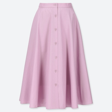 WOMEN BUTTONED CIRCLE SKIRT