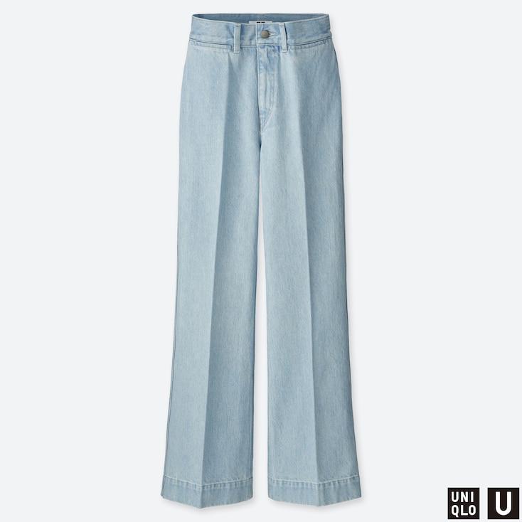 Women U High-Rise Flare Jeans, Blue, Large