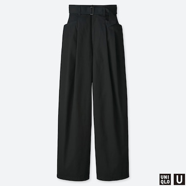 WOMEN UNIQLO U HIGH WAISTED TWO TUCKED TROUSERS