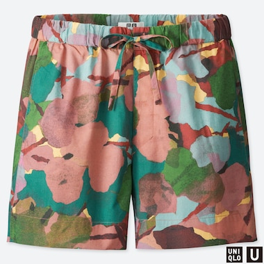 WOMEN UNIQLO U EASY PRINTED SHORTS