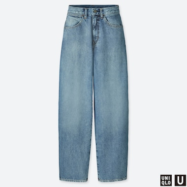 WOMEN UNIQLO U HIGH WAISTED WIDE LEG STRAIGHT JEANS (L32/33)