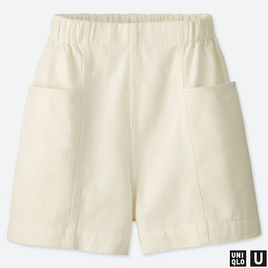 WOMEN UNIQLO U DENIM EASY SHORTS