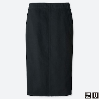 WOMEN UNIQLO U DENIM NARROW SKIRT