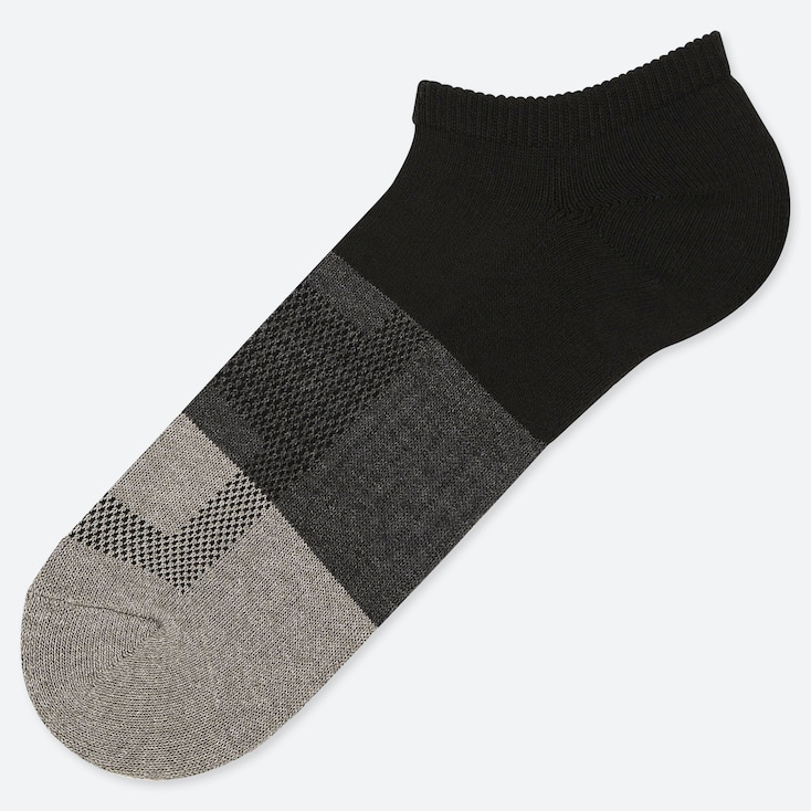 MEN PILE COLORBLOCK SHORT SOCKS, BLACK, large
