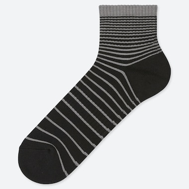 MEN PILE STRIPED HALF SOCKS