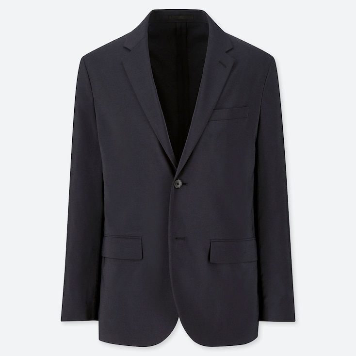 MEN KANDO JACKET (WOOL LIKE), NAVY, large