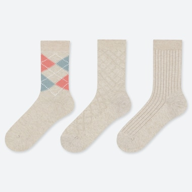WOMEN SOLID & PATTERNED SOCKS (THREE PAIRS)
