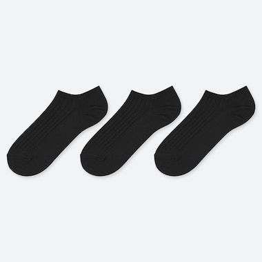 WOMEN RIBBED ANKLE SOCKS (THREE PAIRS)