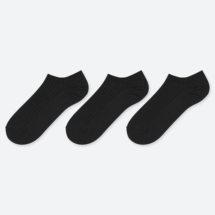WOMEN RIBBED ANKLE SOCKS (THREE PAIRS)