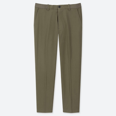 "MEN EZY COTTON RELAXED FIT ANKLE-LENGTH PANTS (TALL 31"") (ONLINE EXCLUSIVE), OLIVE, medium"