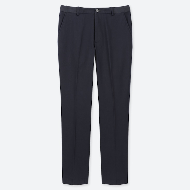 "MEN EZY COTTON RELAXED FIT ANKLE-LENGTH PANTS (TALL 31"") (ONLINE EXCLUSIVE), NAVY, large"