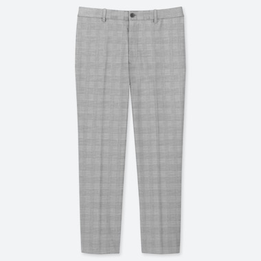 MEN EZY GLEN CHECKED ANKLE LENGTH TROUSERS