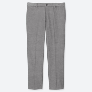 MEN EZY HOUNDSTOOTH PRINT ANKLE LENGTH TROUSERS
