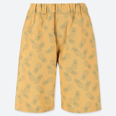 BOYS EASY SHORTS, YELLOW, medium