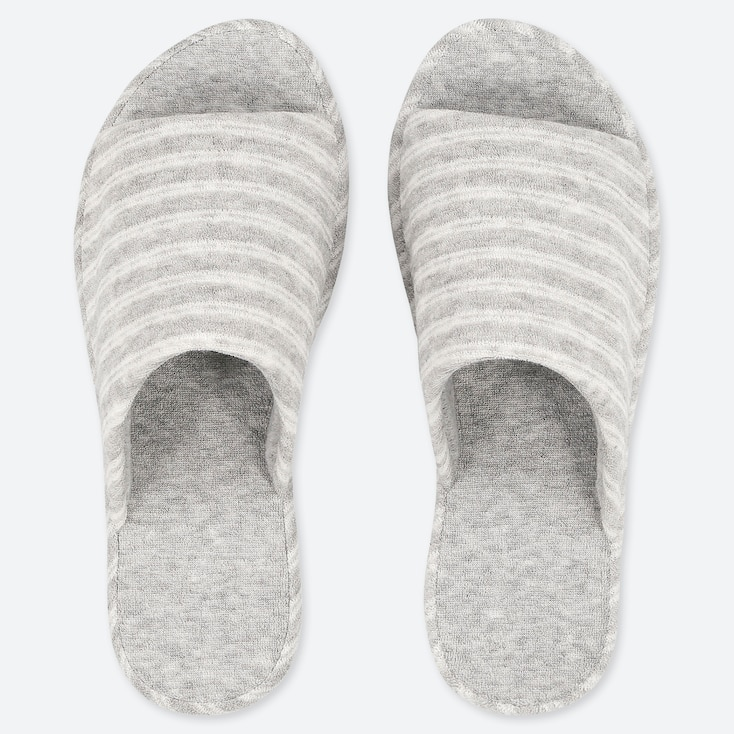 PILE-LINED SLIPPERS, GRAY, large