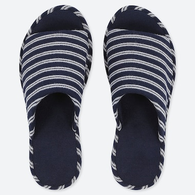 UNIQLO U STRIPED SLIDER SLIPPERS