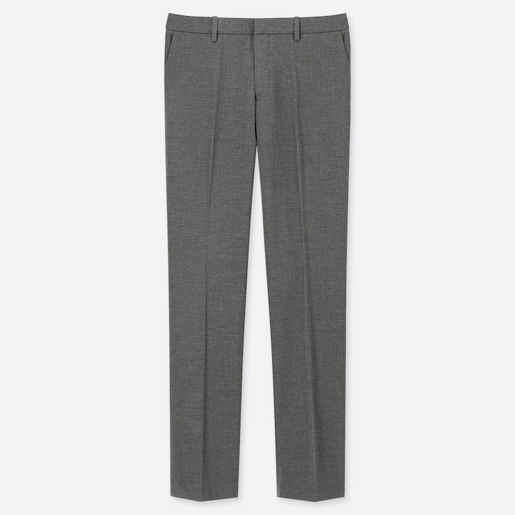 WOMEN STRETCH PANTS (ONLINE EXCLUSIVE), GRAY, large