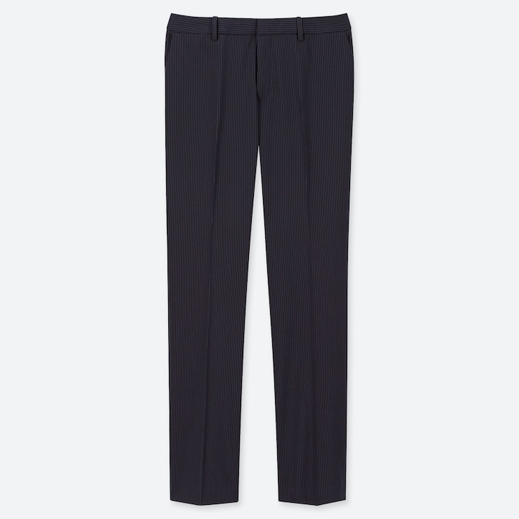 WOMEN STRETCH PANTS (ONLINE EXCLUSIVE), NAVY, large