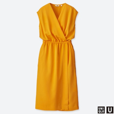 WOMEN UNIQLO U SLEEVELESS WRAP DRESS