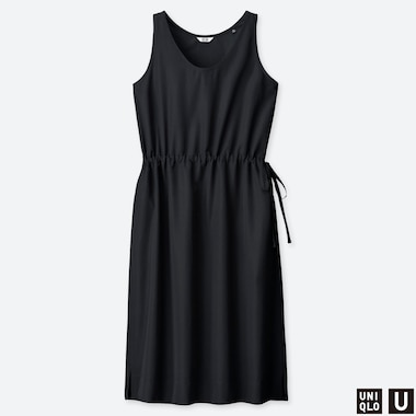 WOMEN UNIQLO U DRAWSTRING SLEEVELESS DRESS