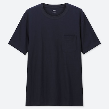 MEN SLUB CREW NECK POCKET SHORT SLEEVED T-SHIRT