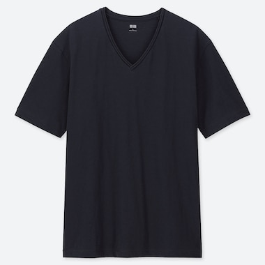 MEN SLUB V NECK SHORT SLEEVED T-SHIRT